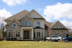 grått hus Royaltyfria Foton