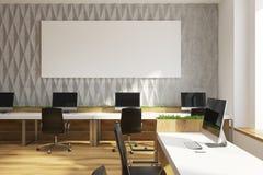 Grått kontor för diamantväggmodell, stor affisch vektor illustrationer