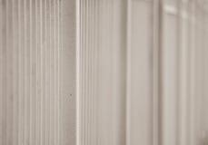 grått metallstaket i längden som en bakgrund och ett gräsplanblad Arkivfoton