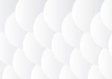 Grått och vit 3D cirklar bakgrund Royaltyfri Illustrationer