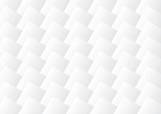 Grått och vit 3d kvadrerar bakgrund Stock Illustrationer
