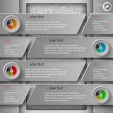 Grått papper infographics1 Arkivbilder
