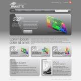 Grått raster för Websitemall 960. Royaltyfri Bild