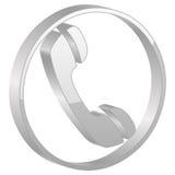 grått telefonsymbol Arkivbilder