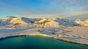 Graenavatn lace. Iceland. Krisuvik royalty free stock images