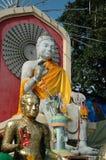 Grès blanc Bouddha Photos stock