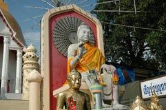 Grès blanc Bouddha Image libre de droits