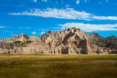 Grès dans les bad-lands, le Dakota du Sud Photographie stock libre de droits