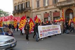 Grève à Rome image libre de droits