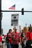 grève 0n Photos stock