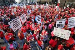 Grève 2012 de professeurs de Chicago photo stock