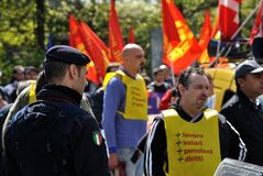 Grève Photographie stock libre de droits