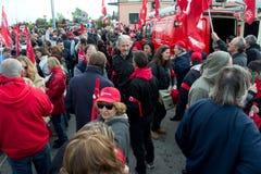 Grève avec l'événement Photo stock