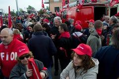 Grève avec l'événement Photographie stock libre de droits