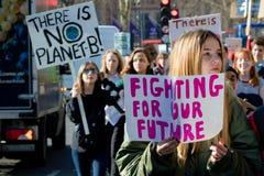 Grève d'école pour le changement climatique photo stock