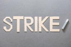 Grève dans le secteur éducatif photos stock