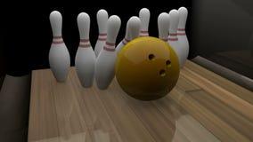 grève de bowling rendue par 3d banque de vidéos