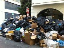 Grève de déchets à Athènes Photographie stock libre de droits