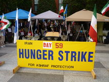 Grève de la faim iranienne Photo libre de droits
