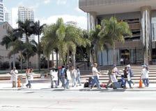 Grève de main-d'oeuvre d'ouvriers commerciaux de construction - 3 photos stock