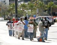 Grève de main-d'oeuvre d'ouvriers commerciaux de construction images stock