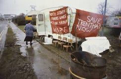 Grève de mineurs photo libre de droits