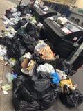 Grève de poubelle Photo libre de droits