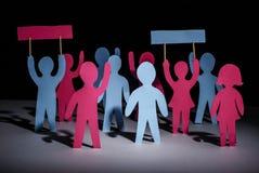 Grève des personnes avec des bannières photo stock