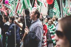 Grève nationale du tourisme à Milan en octobre, 31 2013 Photos libres de droits