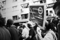 Grève pour des explosions de bombe de rassemblement de paix d'Ankara Images stock