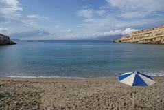 Grécia, Creta, o recurso de Matala fotografia de stock royalty free