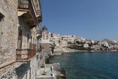 Grécia, ilha de Syros, cidade de Ermoupoli Imagem de Stock Royalty Free