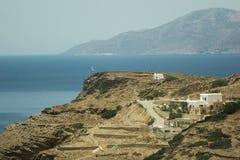 Grécia a ilha do Ios Campo, fotos de stock royalty free