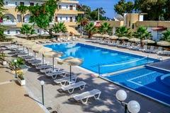 Grécia, o Rodes, maratona do hotel Imagens de Stock Royalty Free