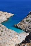 Grécia, praia do abrigo do diabo Imagens de Stock Royalty Free
