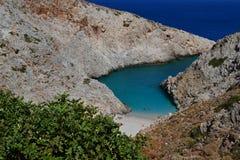 Grécia, praia do abrigo do diabo Foto de Stock Royalty Free