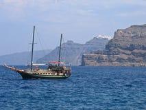 Grécia Santorini panorâmico Fotografia de Stock
