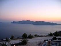 Grécia Santorini panorâmico Fotografia de Stock Royalty Free