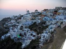 Grécia Santorini panorâmico Fotos de Stock Royalty Free