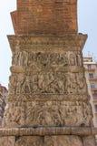 Grécia, Tessalónica, arco de Galerius imagens de stock