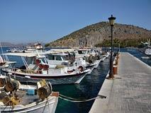 Grécia, Tolo-no porto Fotos de Stock Royalty Free