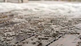 Grélons sur le plancher, automne dans Krasnaya Polyana photos libres de droits