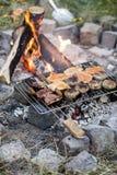 Grésillement du BBQ d'été Images stock