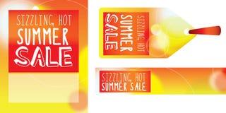 GRÉSILLEMENT du label, de la bannière et de l'affiche de VENTE illustration stock