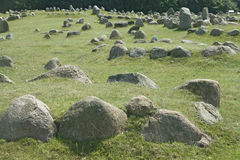 grób drylują Viking Obrazy Stock