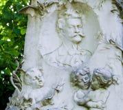 Grób Johann Strauss w Wiedeń, Austria fotografia royalty free