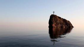 Grób krzyż na wierzchołku zdjęcie wideo