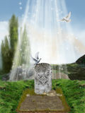 grób osamotniony Zdjęcia Stock