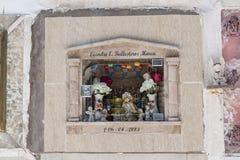 Grób przy Cementerio Miejskim cmentarzem w Sucre, Boliwia Zdjęcia Royalty Free
