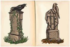 Grób - ręka rysunki, wektor Obraz Stock